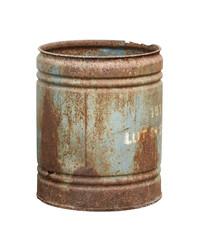 Rusty barrel isolated on white background