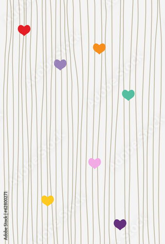 hearts and lines background, love and romantic