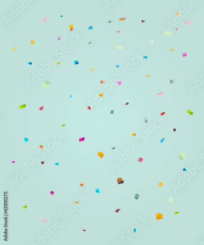 rectangle polka background, confetti explosion