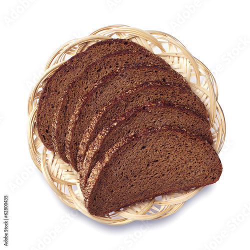 Bread in a wicker plate