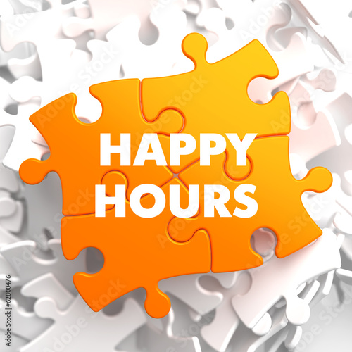 Happy Hours on Orange Puzzle.