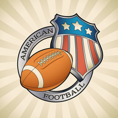American football badge