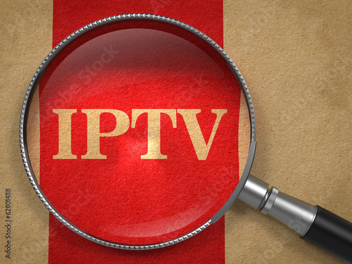 IPTV Concept - Magnifying Glass.