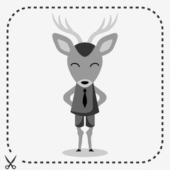 Cute deer wearing a tie