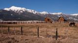 Old Horse Barn Endures Mountain Winter Wallowa Whitman National poster