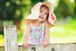 Portrait of a happy little girl outdoor