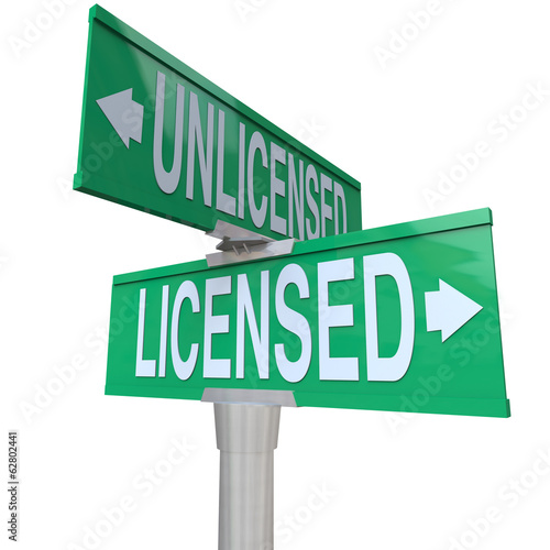 Licensed Vs Unlicensed Signs Choose Official Authorized Certific