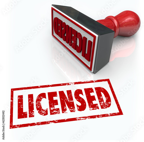 Licensed Stamp Official Authorized Certified Approval