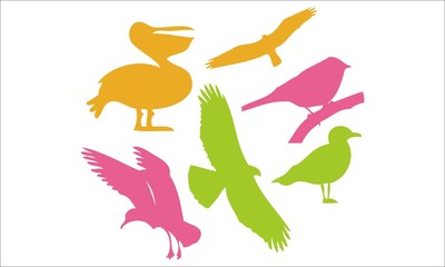 Birds Vector Digital Clipart #3