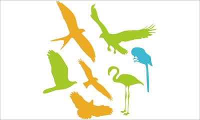 Birds Vector Digital Clipart