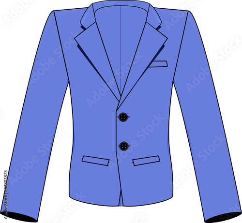 Blue Notch Lapel Suit