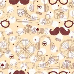 Hipster seamless pattern.