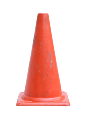 Traffic cone (with clipping path) isolated on white background