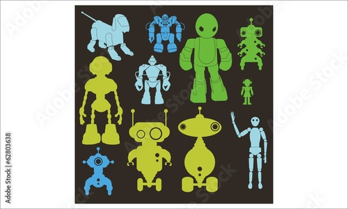 Robot vector Digital Clipart