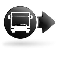 bus sur bouton noir