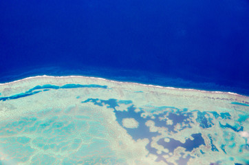 Berrier reef view from plane