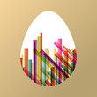 Easter egg fresh spring color line abstract background illustrat
