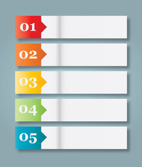 Set of 5 Numbered Paper Style Headers