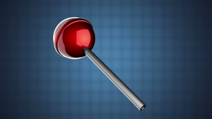loop rotate red lollipop on blue background