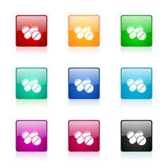 medicine vector icons colorful set