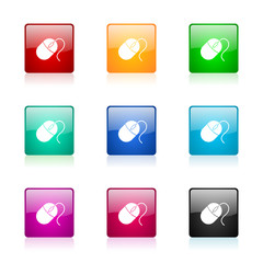 mouse vector icons colorful set