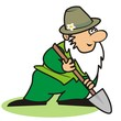 gardener and spade