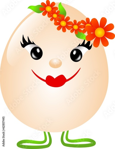 Easter girl egg