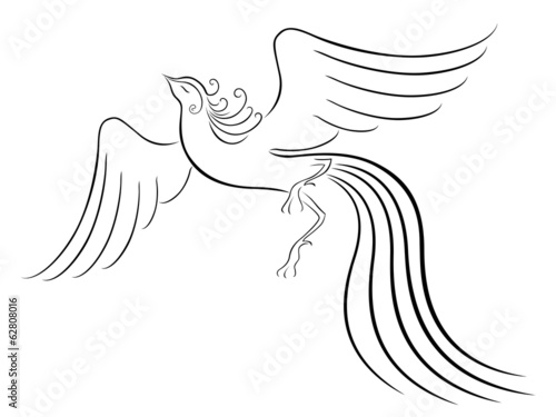 Black graceful Firebird contour