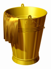 cleaning bucket in gold