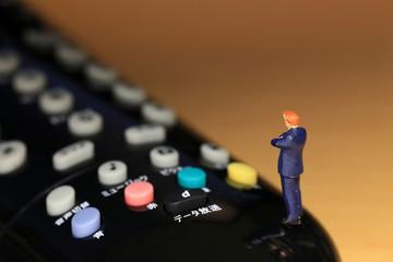 リモコンのボタンの選択