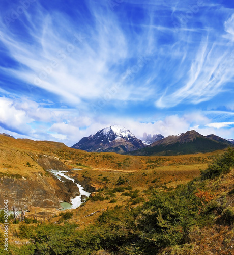 The national park Torres del Paine, Chile.