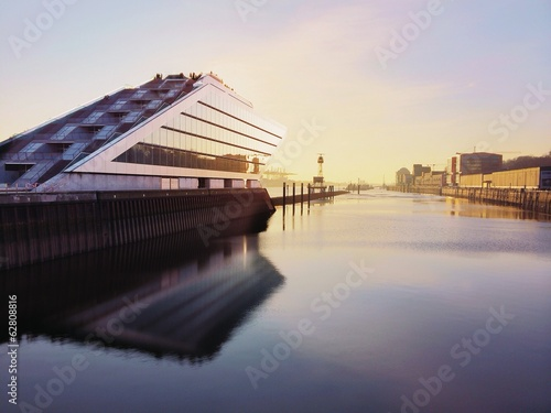 canvas print picture Dockland Hamburg