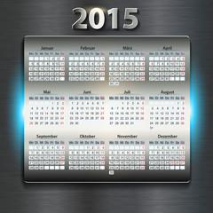 Kalender 2015 metallic