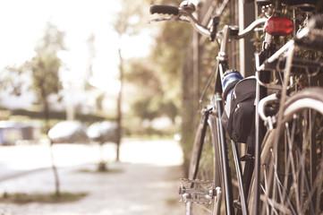 Vintage bicycle in the street