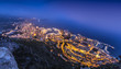Aerial View on Monaco Monte Carlo by night