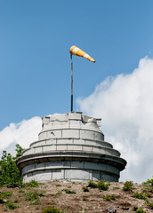 Windsock on the stone tower