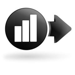 statistiques sur bouton noir