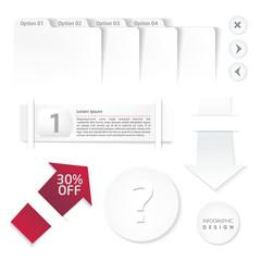 Set of infographic white elemnt for design