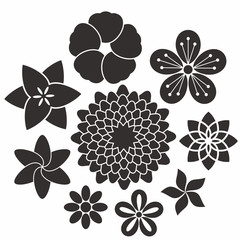 Flower. Icon Set