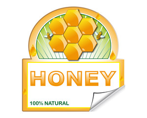 Honey's label for marketplace