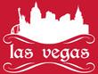 Las Vegas - name and city silhouette