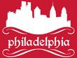 Philadelphia - name and city silhouette