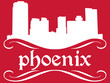 Phoenix - name and city silhouette