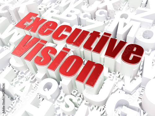 Business concept: Executive Vision on alphabet background