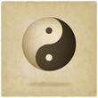Yin yang old background - vector illustration - 62811897