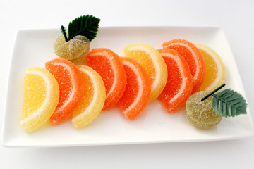 Orange et citrons confits