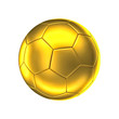 canvas print picture - golden soccer ball