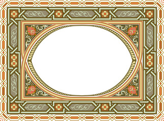Arabesque seamless frame with detailed ornament