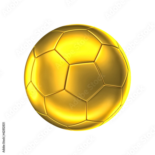 canvas print picture golden soccer ball