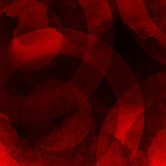 red background with circle pattern